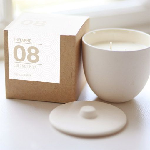 Enflamme Coconut Milk Candle - Object of Desire Shop