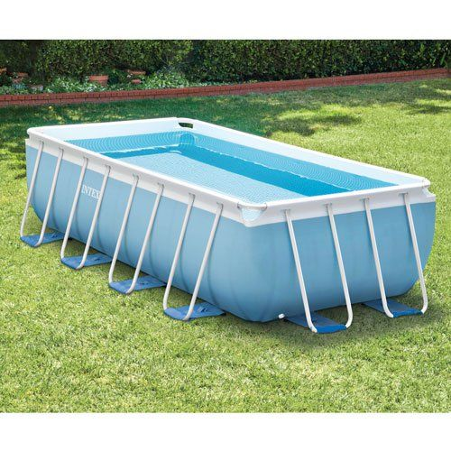 spps intex prism frame pools are made with super durable steel tubing include a puncture resistant pvc blue liner featuring a mosaic tile print inside - Intex Pools