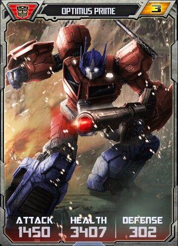 Optimus prime rm card