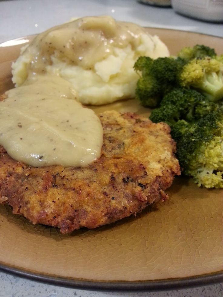 justthefood.com...the blog: Cooler Fall Weather Means it's Time for Comfort Food: Country Fried Seitan Steaks with Mashed Potatoes and Pepper Gravy