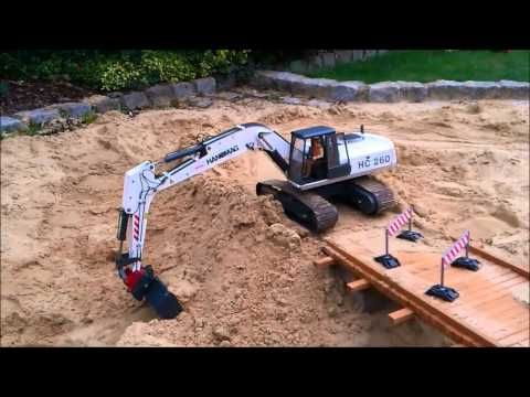 Bridge Construction Site Part 2 RC Construction Machines (Excavator / Du...