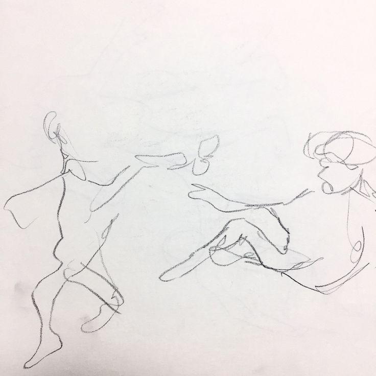 [천지창조] 천지창조의 일부분을 무의식적인 선으로 그렸습니다.