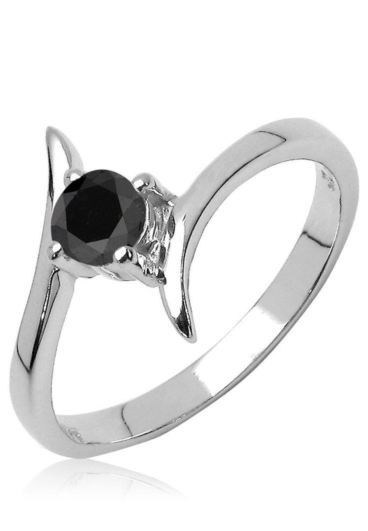Johareez Silver /Black Sterling Silver Diamond #Ring - Buy Johareez #Women #Rings & #Bands Online | JO272JW27BGAINDFAS