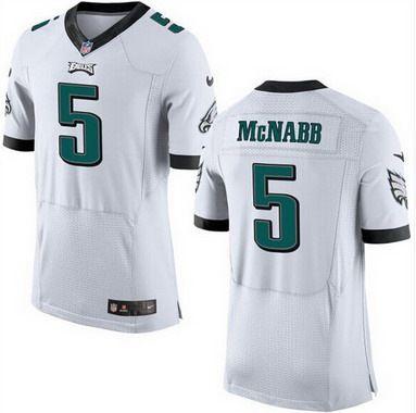 Cheap NFL Jerseys Outlet - Men's Philadelphia Eagles #5 Donovan McNabb White Retired Player ...