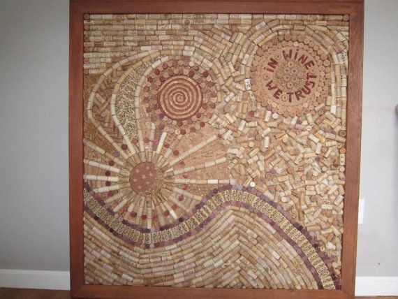 wine cork  board very inticate, one of a kind on Etsy, $3,499.00