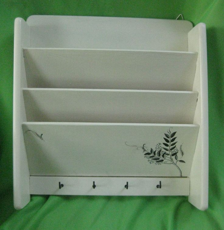 Upcycled wall mount letter mail key organizer holder sorter solid wood for the wall - Wooden letter holder wall mount ...