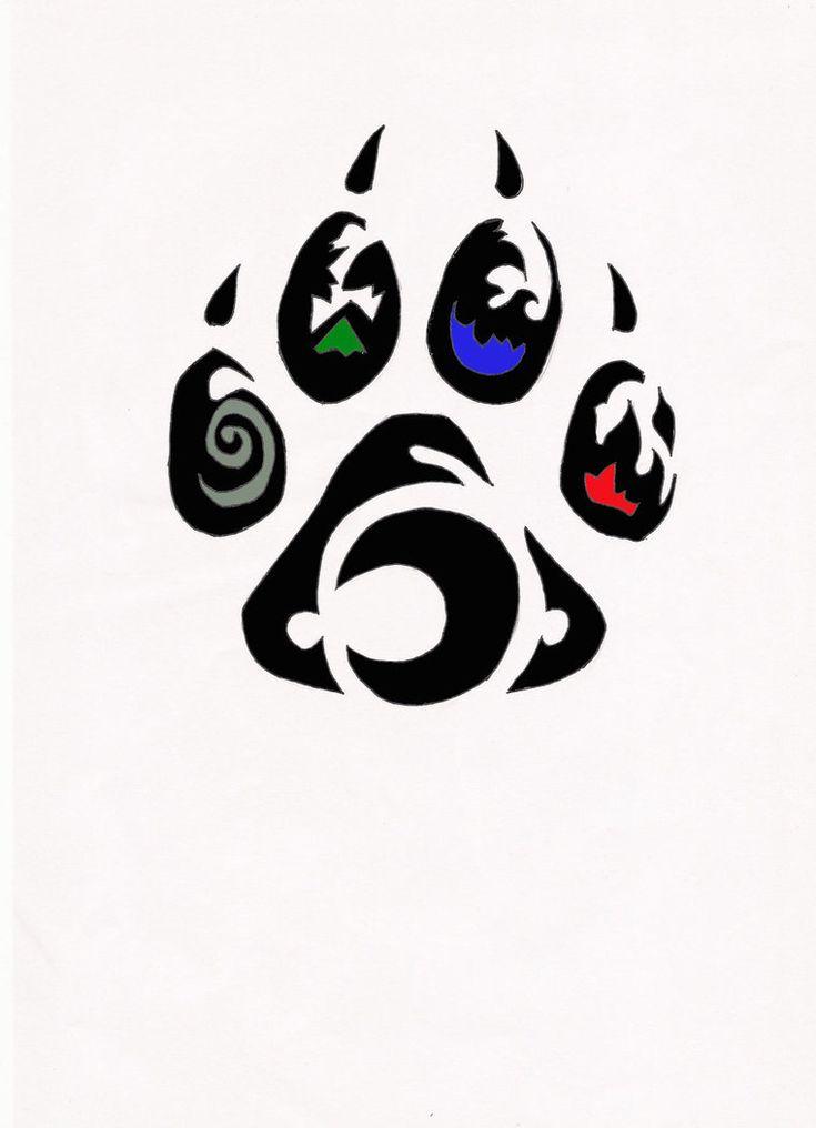 Element Wolf Paw Tribal Tattoo By Relic94 On Deviantart Design 760x1050 Pixel