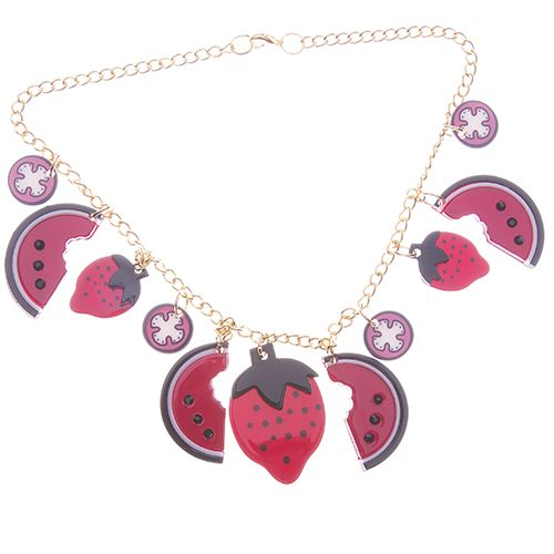 Freya's Fruit Basket necklace. Away from home the girl picks forbidden fruit.