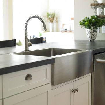 Stainless Farmhouse Sink Design, Pictures, Remodel, Decor and Ideas - page 10