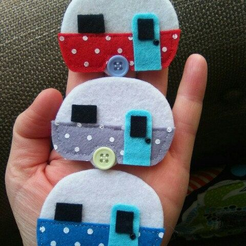 Some of the little caravans ready for the caravan garland