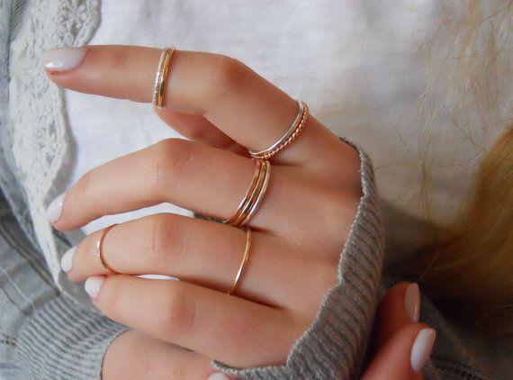 *** Dieses Angebot gilt für 3 gehämmerte Ringe – Roségold gefüllt, … #angebot #dieses #gefullt #gehammerte #ringe #rosegold