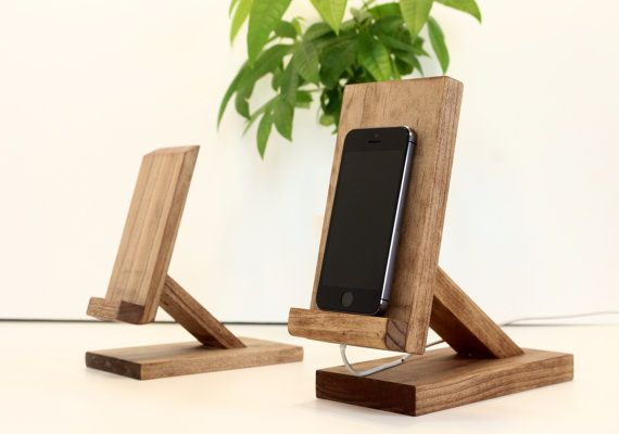 Wood iPhone Stand/ iPad Mini Stand/Android by WoodWarmth on Etsy, $30.00