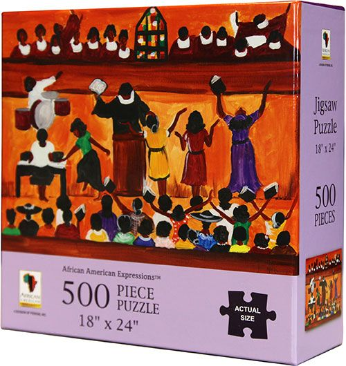 PUZ03 Church Music 500-piece puzzle, by African American Expressions