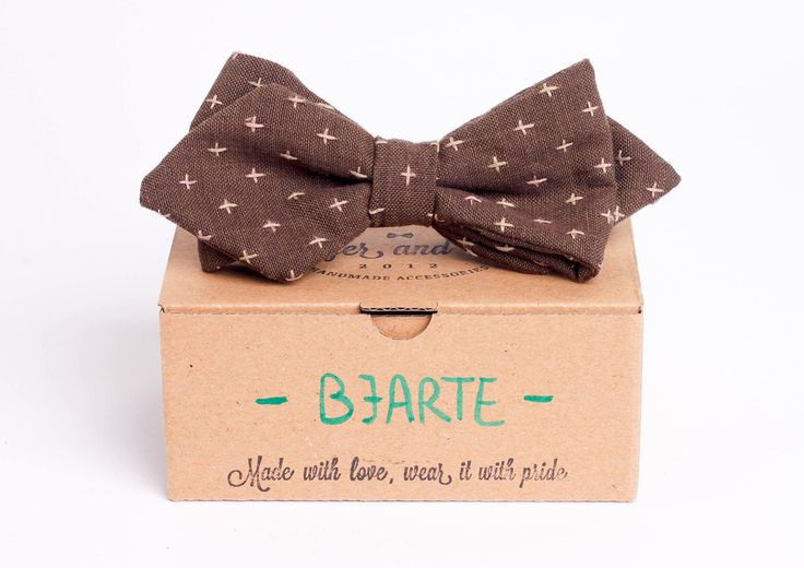 Brown arrowhead bow tie - Bjarte by Badger & Fox
