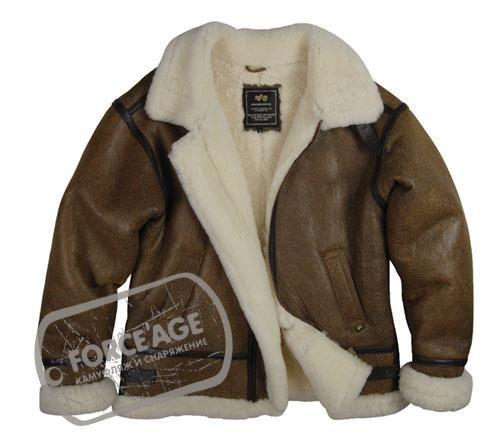 Зимняя кожаная куртка пилот американских летчиков с фото
