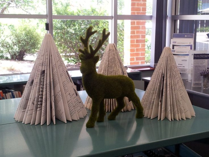 Wishing everyone a Merry Christmas from the staff of Campbelltown #TAFE library #christmas #library #oldbooks #xmas #tree #craft #decoration #librarydisplay