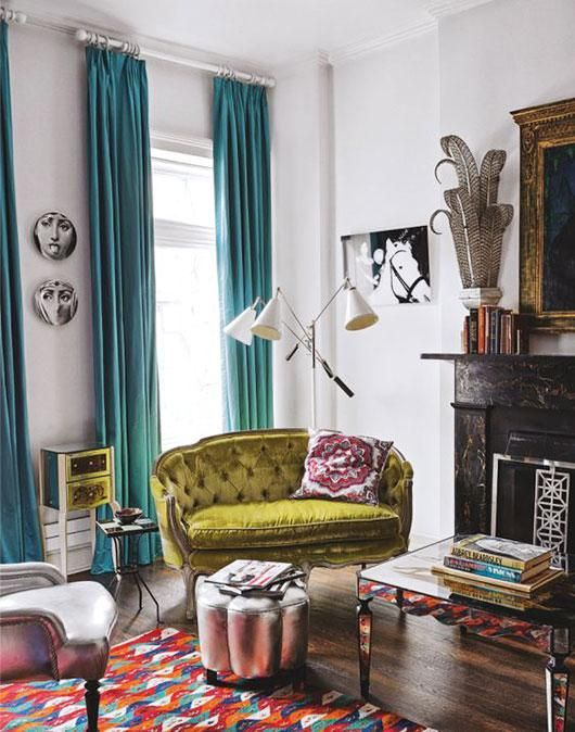 Eclectic living space with plenty of quirky touches