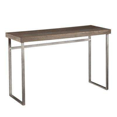 Hanover Burnt Oak and Powder Coated Silver Console Table