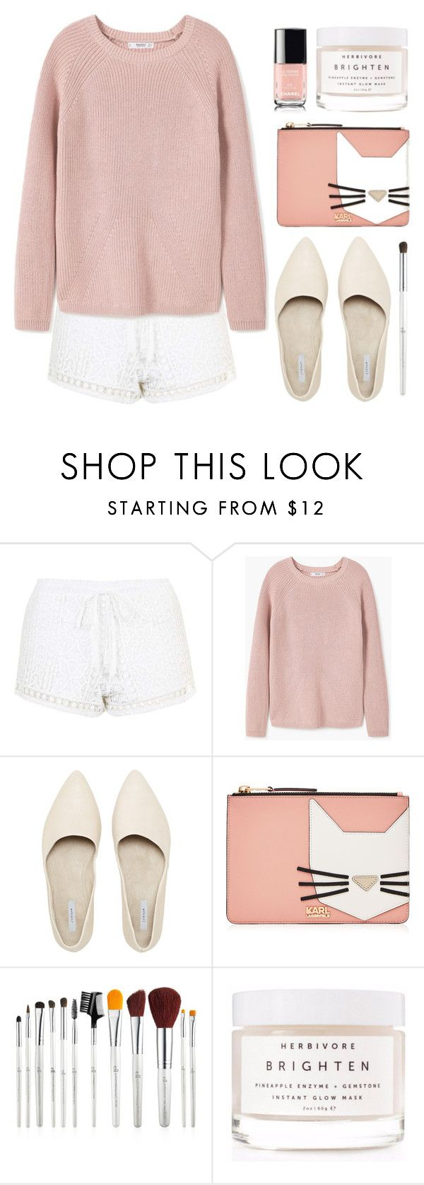 """""""Simple outfit"""" by stevie-pumpkin ❤ liked on Polyvore featuring Topshop, MANGO, Karl Lagerfeld and Herbivore"""