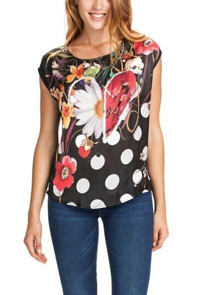 Desigual Sara 46T2578 daisy heart t shirt