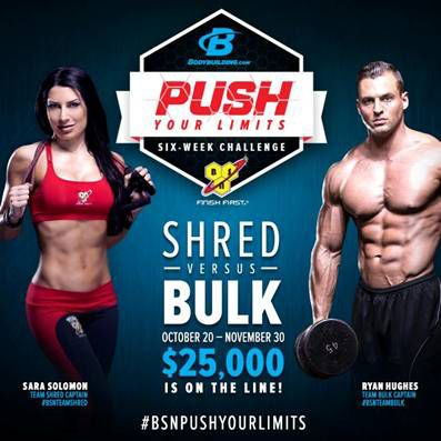 Have You Always Wanted to Get SHREDDED? Now's your chance thanks to the FREE #BSNTEAMSHRED challenge on #Bodybuildingcom! The BSN Challenge Grand Prize is $10,000 CASH! Once the Challenge Starts, I'll give you a new weekly video challenge. Complete the Challenge for a chance to win #BSN Supplements! HURRY! Join before registration closes ---> http://bodybuilding.7eer.net/c/58948/76783/2023?u=http://www.bodybuilding.com/fun/push-your-limits-challenge.html