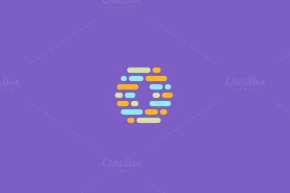 Dynamic, code, blocks, letter O logo by Bureau on @creativemarket