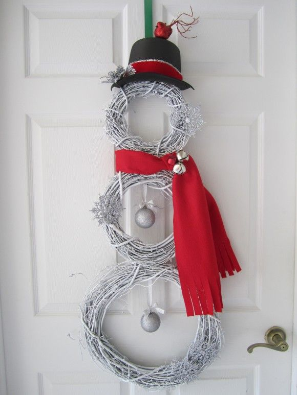 grapevine wreath snowman