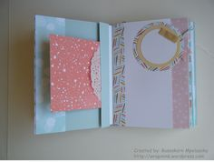 Mini envelope album, Stampin' Up! Best Year Ever DSP, washi bow