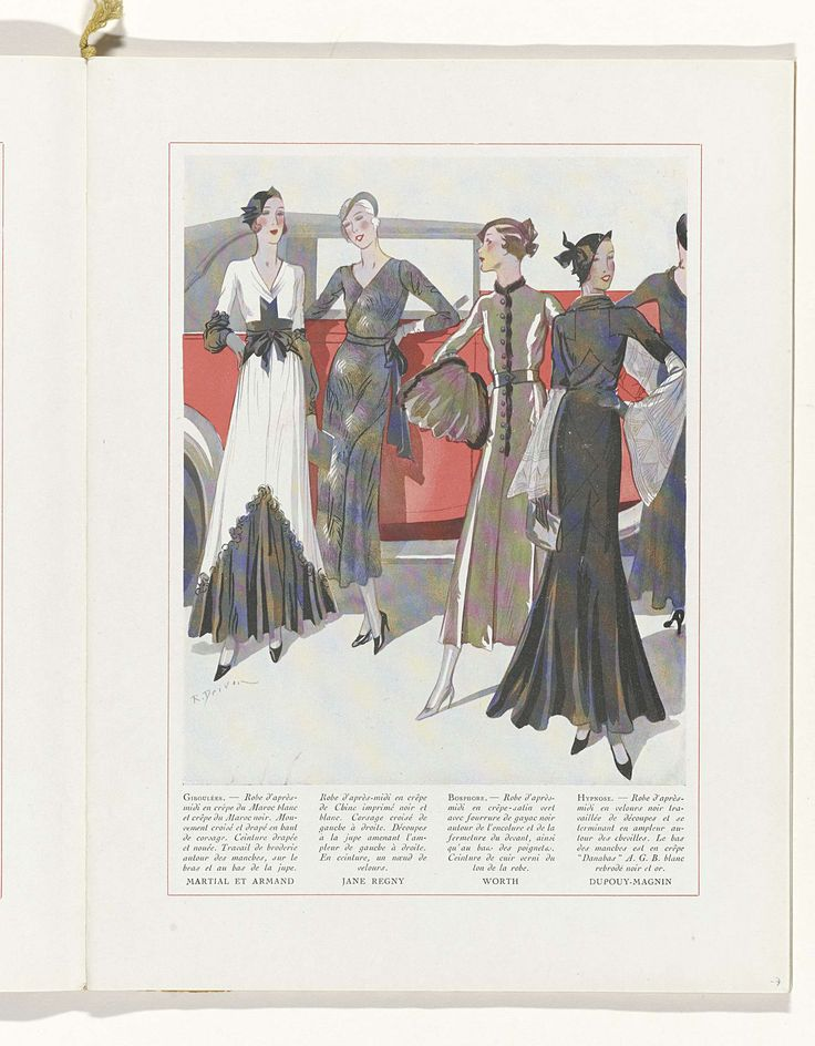 Art - Goût - Beauté, Feuillets de l' élégance féminine, Novembre 1931, No. 135, 12e Année, p. 7, R. Drivon, 1931