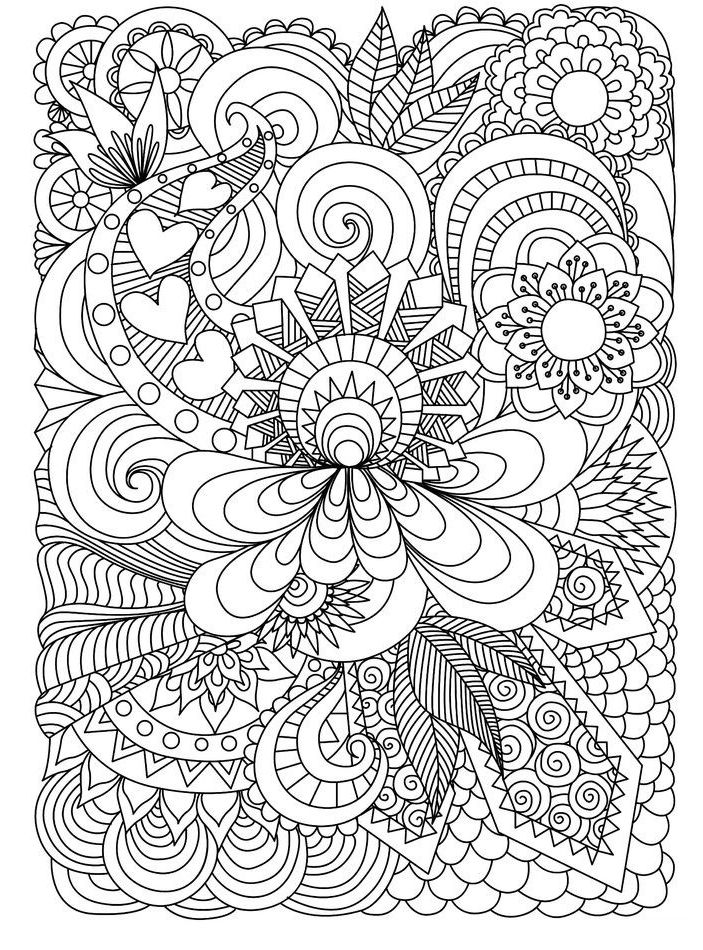 picture relating to Free Printable Coloring Pages for Adults Advanced Flowers known as Coloring Internet pages for Grownups Grownup coloring Printable grownup