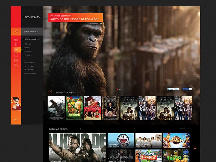 Music / Movies / App Store Concept