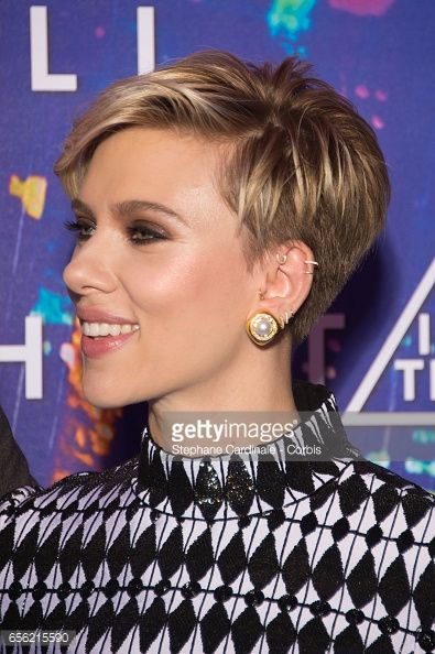 Actress Scarlett Johansson attends the Paris Premiere of the Paramount Pictures release 'Ghost In The Shell' at Le Grand Rex on March 21, 2017 in Paris, France.