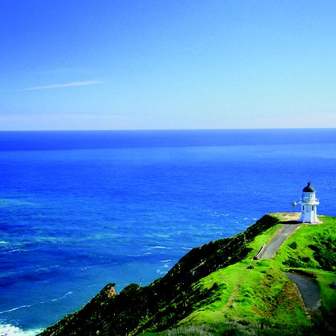 #Cape Reinga, is generally considered the separation marker between the Tasman Sea to the west and the Pacific Ocean to the east. From the lighthouse it is possible to watch the tidal race, as the two seas clash to create unsettled waters just off the coast. The Māori refer to this as the meeting of Te Moana-a-Rehua, 'the sea of Rehua' with Te Tai-o-Whitirea, 'the sea of Whitirea', Rehua and Whitirea being a male and a female respectively