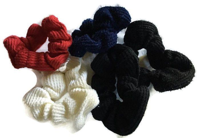 Lot 5 Multi-Color Mixed Scrunch Hair Tie Hair Twists Scrunchie #Scunci