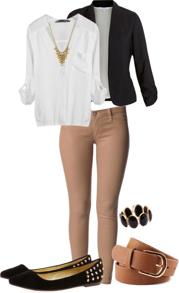 """Casual Job Interview?"" by cailey-cusick on Polyvore"