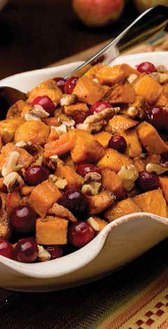 Apple Cider and Maple Glazed Sweet Potatoes