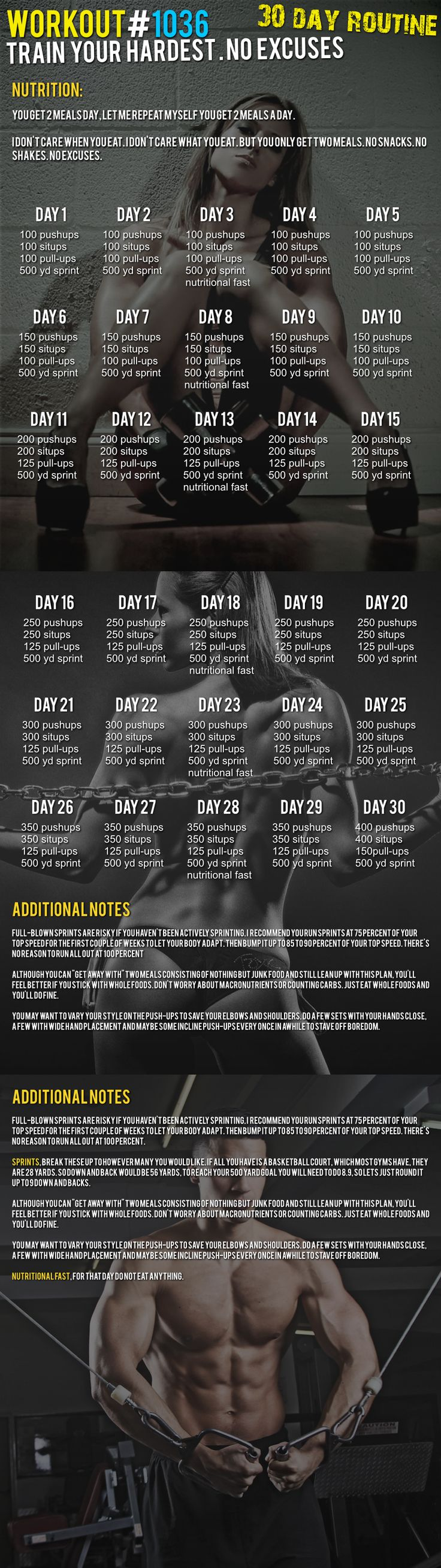 here is a pull-up 30 day challenge .. this is NOT FOR beginners !!!! You have to be strict on yourself ... NO EXCUSES !!!!