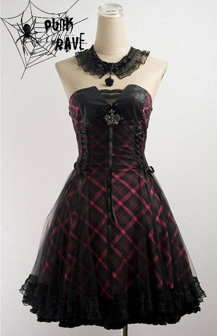 Robe rose gothic lolita aristocrat ras de cou Punk Rave Q-120