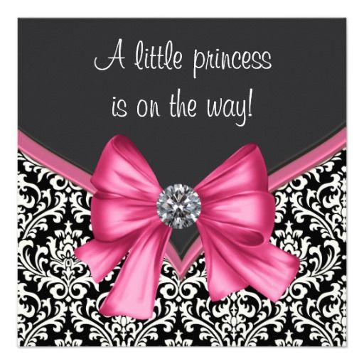 14 best baby shower invitations pink and black images on pinterest, Baby shower invitations