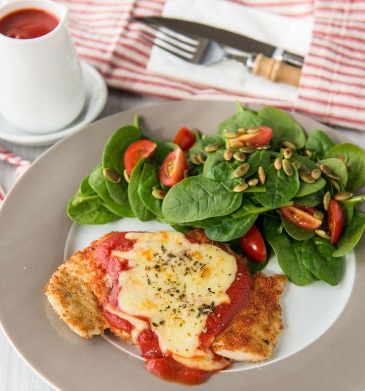 Chicken Parmigiana With Salad