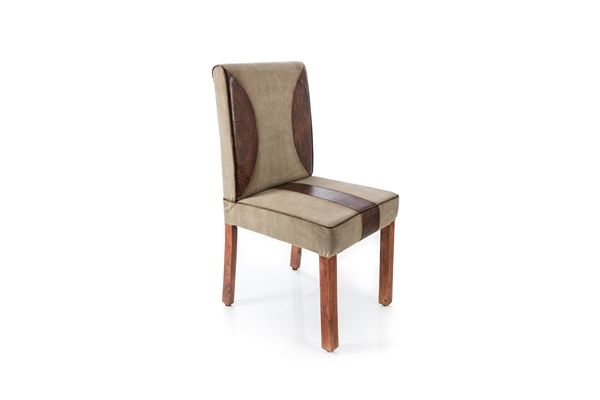 Casa Uno Mango WooDen Leather Chair Dining Stylish Furniture - NEW