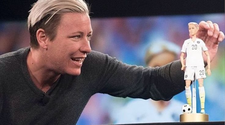 New Barbie – in the form of soccer star Amy Wambach. The doll honours the dual Olympic gold medallist, who.. http://www.qnews.com.au/shes-a-doll-barbie-honours-lesbian-soccer-star/
