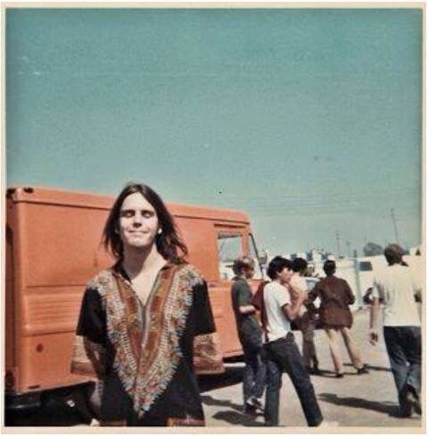 Some hippy named Bob Weir in front of a cool van,1967.