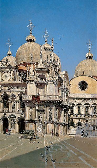 Martin Rico y Ortega - The Santander Collection. Patio del palacio de los Dux de Venecia/ Courtyard of the Palace of the Dux of Venice (1883)