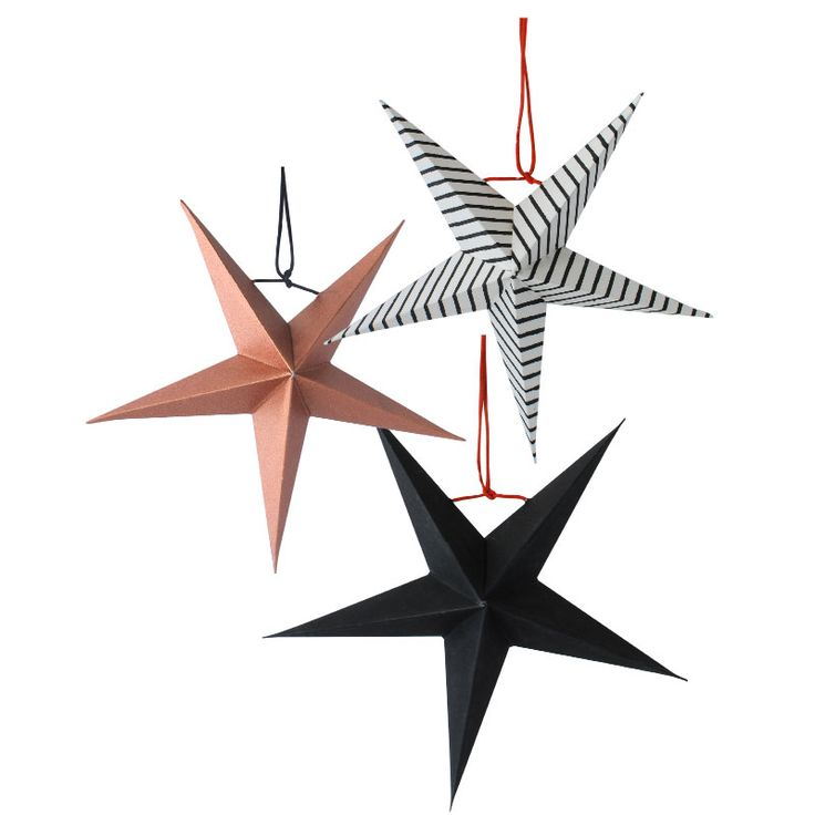 Christmas paper star www.aspegren.dk