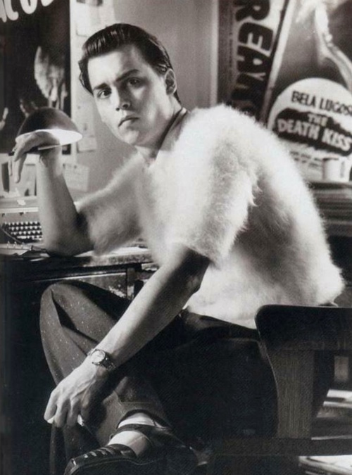 "Even in an angora sweater from ""Ed Wood"", he's incredibly good looking!"