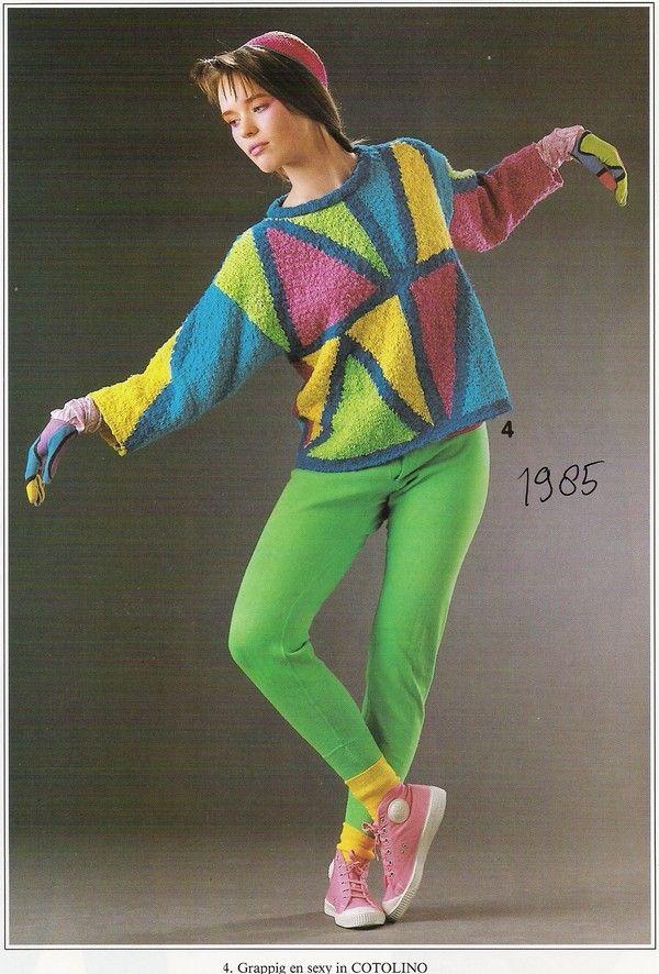 Helle kleuren en grote blokken erg hip in de jaren tachtig