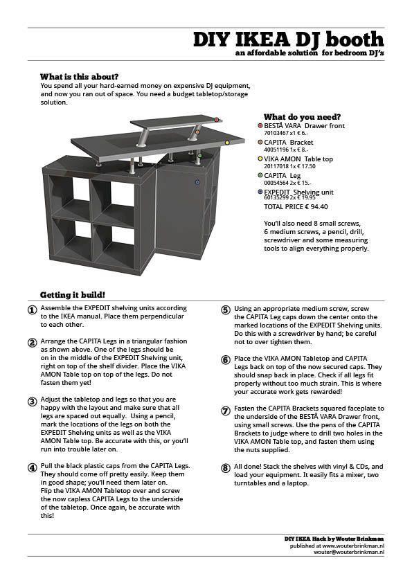 DIY Ikea DJ Booth.