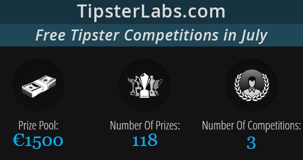 Join TipsterLabs Tipster Competitions In July - Total Prize Pool: €1,500