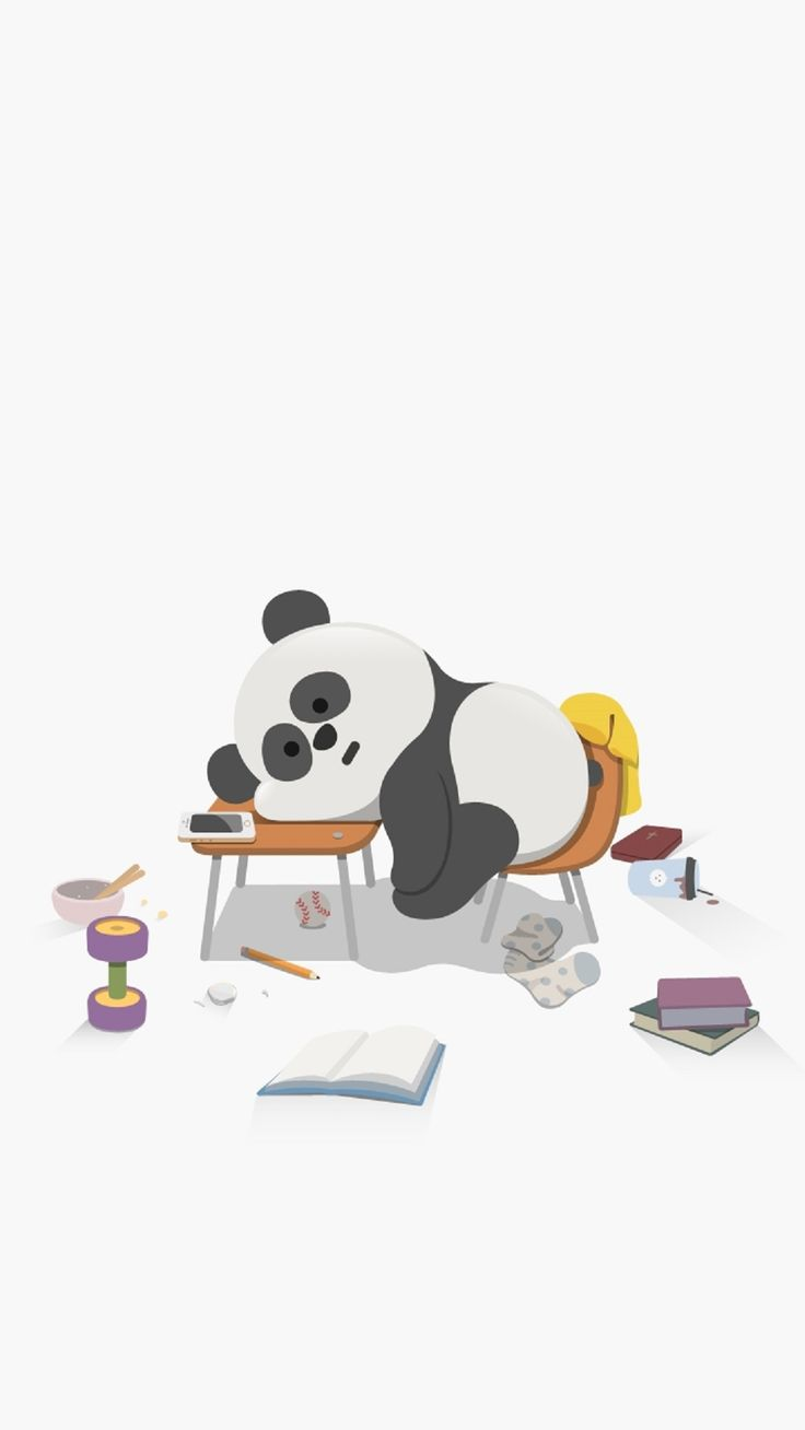 Cute Sleepy Panda. Cute Animal iPhone wallpapers. Tap to see more high quality iphone wallpapers, backgrounds, fondos! - @mobile9